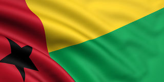 Vlag van Guinea-Bissau Stock Foto's