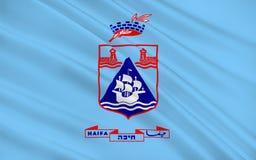 Vlag van Haifa, Israël stock illustratie