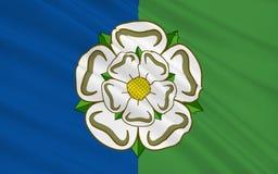 Vlag van het Berijden van het Oosten van de provincie van Yorkshire, Engeland stock illustratie