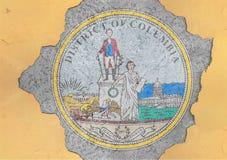 Vlag van het District van de staat van de V.S. van de verbinding van Colombia in groot gebroken materiaal vector illustratie