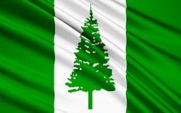 Vlag van het Eiland Australië van Norfolk - Kingston stock foto