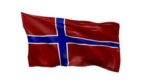 Vlag van het Golven van Noorwegen stock videobeelden