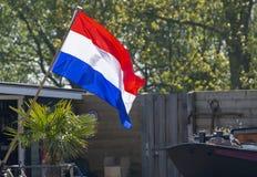 Vlag van het Koninkrijk van Nederland, Nederlandse nationale vlag in drie kleurenrood, wit en blauw royalty-vrije stock afbeeldingen
