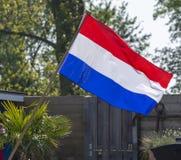 Vlag van het Koninkrijk van Nederland, Nederlandse nationale vlag in drie kleurenrood, wit en blauw stock foto's