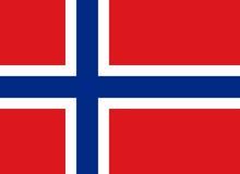 Vlag van het Koninkrijk van Noorwegen Stock Foto's