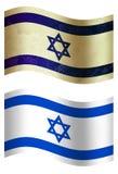 Vlag van het land van Israël 3D, twee stijlen stock illustratie