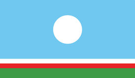 Vlag van het pictogramillustratie van de sakharepubliek Royalty-vrije Stock Fotografie