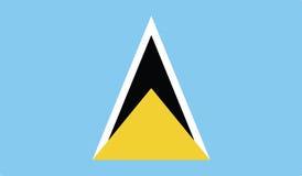 Vlag van het pictogramillustratie van heilige Lucia Royalty-vrije Stock Foto's