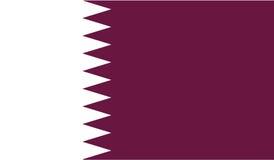 Vlag van het pictogramillustratie van Qatar Stock Foto's
