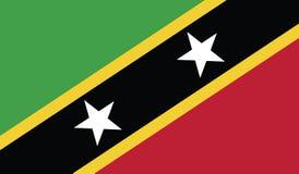 Vlag van het pictogramillustratie van St.Kitts.en.Nevis Royalty-vrije Stock Foto