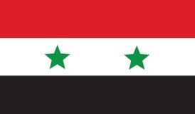 Vlag van het pictogramillustratie van Syrië Royalty-vrije Stock Afbeelding