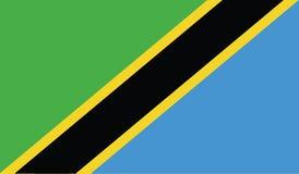 Vlag van het pictogramillustratie van Tanzania Stock Foto's