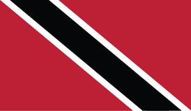 Vlag van het pictogramillustratie van Trinidad en van Tobago Stock Fotografie