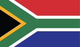Vlag van het pictogramillustratie van Zuid-Afrika Stock Fotografie