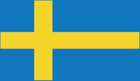Vlag van het pictogramillustratie van Zweden Royalty-vrije Stock Foto
