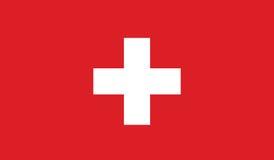 Vlag van het pictogramillustratie van Zwitserland Stock Foto's