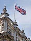 Vlag van het Verenigd Koninkrijk bij Downing Street stock foto's