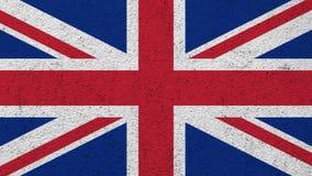 Vlag van het Verenigd Koninkrijk op de muur wordt geschilderd die stock foto
