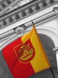 Vlag van historische stad. Stock Afbeelding