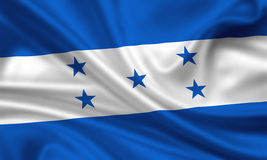 Vlag van Honduras stock illustratie