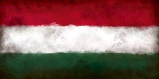 Vlag van Hongarije stock illustratie