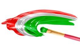 Vlag van Hongarije Royalty-vrije Stock Afbeeldingen