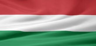 Vlag van Hongarije royalty-vrije illustratie