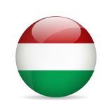 Vlag van Hongarije Vector illustratie Stock Fotografie