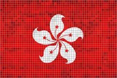 Vlag van Hongkong stock illustratie