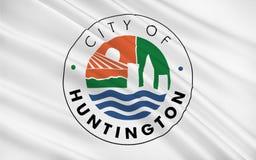 Vlag van Huntington in West-Virginia, de V.S. royalty-vrije illustratie