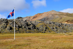 Vlag van IJsland Stock Afbeelding