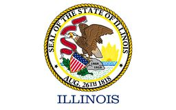 Vlag van Illinois, de V.S. royalty-vrije stock afbeeldingen