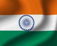 Vlag van India vector illustratie