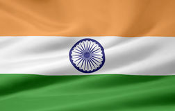 Vlag van India Stock Fotografie