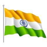Vlag van India. Vector. Royalty-vrije Stock Afbeeldingen