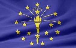 Vlag van Indiana Stock Afbeelding