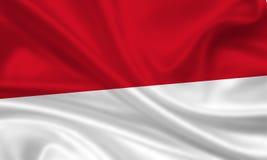 Vlag van Indonesië/Monaco stock illustratie