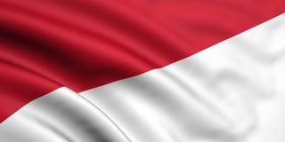 Vlag van Indonesië/Monaco Stock Foto's