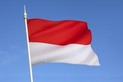 Vlag van Indonesië - Zuidoost-Azië royalty-vrije stock afbeeldingen