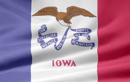 Vlag van Iowa stock illustratie