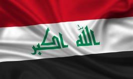 Vlag van Irak royalty-vrije illustratie