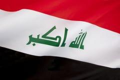Vlag van Irak Stock Afbeeldingen