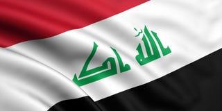 Vlag van Irak Royalty-vrije Stock Afbeelding