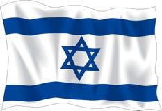 Vlag van Israël stock illustratie