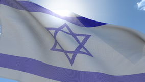 Vlag van Israël stock video