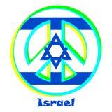Vlag van Israël als teken van pacifisme royalty-vrije illustratie
