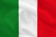 Vlag van Italië Stock Fotografie
