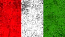 Vlag van Italië De patriottische oude achtergrond van de grunge uitstekende textuur vector illustratie