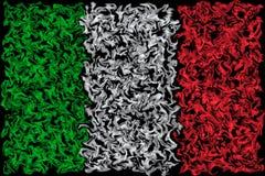Vlag van Italië - Gesmeerd het Branden Kleurenontwerp royalty-vrije illustratie