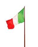 Vlag van Italië op witte achtergrond wordt geïsoleerd die Stock Afbeelding